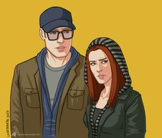 luckyraeve: Capster & Bee Dubbs I love these two undercover hipster babies so much. <3