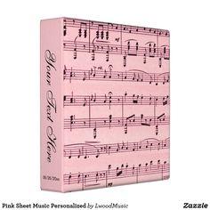 Pink Sheet Music Per