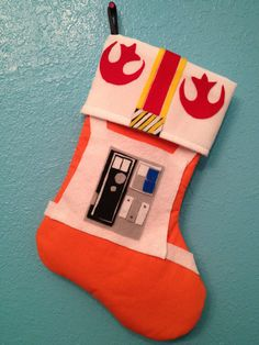 Star Wars Rebel Pilot Holiday Christmas Stocking. $25.00, via Etsy.