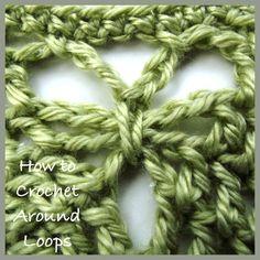 Fun technique for freeform (How to Crochet Around Loops - Crochet Tutorial)