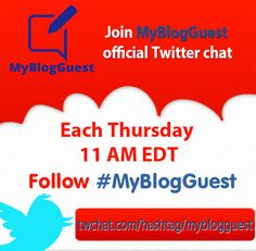 Join MyBlogGuest Twitter chat! How to increase traffic by not counting on any one source.