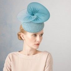 Cathy- Beaded Cocktail Hat with Discs by Jane Taylor