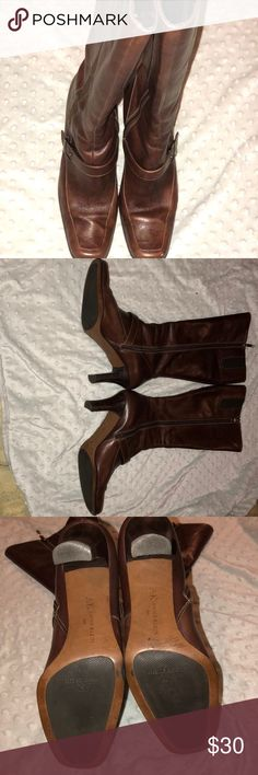 Women's size 9.5 Anne Klein boots!! I am selling a pair of gently Used Anne Klein boots!! Size 9.5!! LEATHER!! There is some imperfections which is in the pictures but there is still a lot of life left! Anne Klein Shoes Heeled Boots