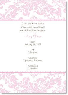 Pink Toile Invitations