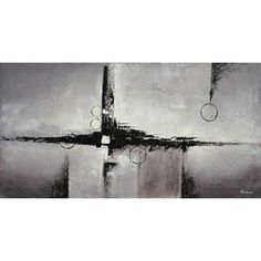 Abstract Black Grey 60x30 Canv 121-OL778