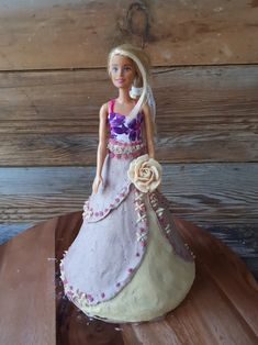 Barbie character cake made raw vegan and gluten-free, by Sweet Little Sirin