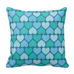 decorative turquoise blue and green hearts pattern for girls,infants and toddlers, nice childrens decor Turquoise Throw Pillows, Heart Patterns, Infants, Turquoise Jewelry, Decorative Throw Pillows, Toddlers, Give It To Me, Hearts, Nice