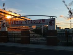 Sunset at Martin Stadium, June 22, 2013. (Photo by Jason Krump, WSU Athletics) Go Cougs!