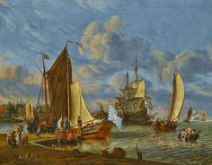 Dutch Master Paintings: Dutch Harbour Abraham Storck