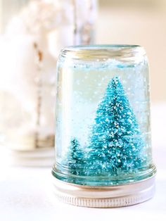 MASON JAR SNOW GLOBE So what if you're not a gifted crafting wizard? With this four-step D.I.Y. project, creating a mini winter wonderland has never been easier. Click through for the full how-to.