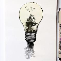 #EarthDay #ink #illustration
