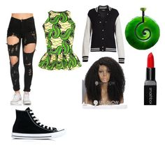 """""""snake"""" by thecrystalheart on Polyvore featuring FAIR+true, Marc Jacobs and Converse"""