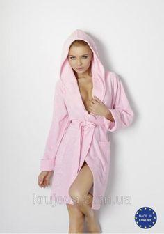 Женский халат на запах Inga rosovyi 90