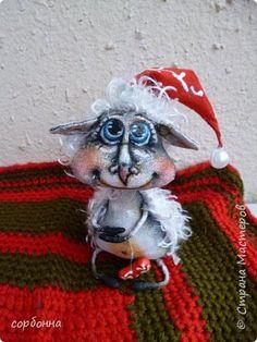 Куклы Новый год Папье-маше Шитьё Интерьерная кукла ангел овечка-елочные игрушки Бумага Ткань фото 3