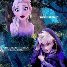 Secretly meeting elsa and Jack frost