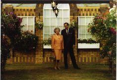 Queen Elizabeth II at the Chelsea Flower Show in 1995