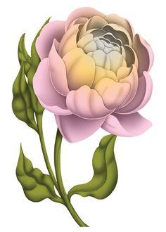 Single Flower Temporary Tattoo - Vintage Floral Tattoos