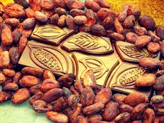 dark chocolate with cocoa beans from Java