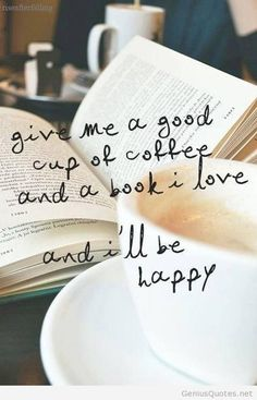 Coffee and book wallpaper quote