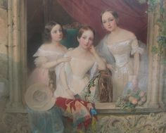 Three of the daughters of Grand Duchess Elena Pavlovna and Grand Duke Michael Pavlovich Marie, Elizabeth and Catherine