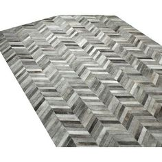 Trent Austin Design Wright Cowhide Handwoven Flatweave Gray Area Rug Rug Size: Rectangle x Chevron Area Rugs, Contemporary Area Rugs, Cow Hide Rug, Grey Rugs, Joss And Main, Woven Rug, Colorful Rugs, Hand Weaving, Gray
