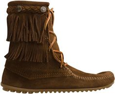 "MINNETONKA DOUBLE FRINGE TRAMPER BOOT  http://www.swell.com/MINNETONKA-DOUBLE-FRINGE-TRAMPER-BOOT-1  Enter the SWELL Summer ""In The Bag"" Contest http://pinterest.com/SWELL/swell-summer-in-the-bag-contest/"