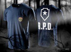 5ab6b03c699b4 Resident Evil 2  Team Building Exercise RPD Pocket T-Shirt Team Building  Exercises. Merchoid