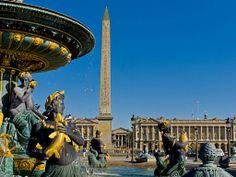 Fountain in the Place de la Concorde - Paris, France
