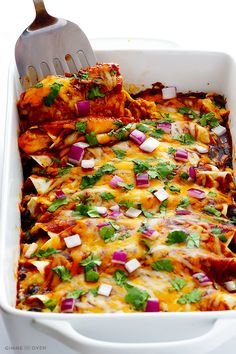 This BBQ Chicken Enchiladas recipe is all of the goodness of traditional Mexican flavors mixed with the sweet, smoky and tangy goodness of BBQ sauce.