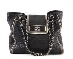 e2d9e6b642da Chanel Black Quilted Lambskin East/West Large Tote Bag Chanel Black, Black  Quilt,