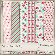 Patterns from my February pattern challenge. Pack includes 6 layered patterns in PSD format.Fab for any themed kit or layout.