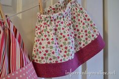 This is a very simple beginner's project that used two fat quarters and can be made year round if you just add some leggings underneath it in cooler weather. It takes about 30 minutes to make