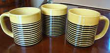 T.G. Green Ltd. Cornishware Early 1970's--Set of 3 Embossed Coffee Cup Mug Rare