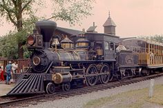 A Baldwin 4-4-0 (2 B) steam locomotive at Greenfield Village, in Dearborn, Michigan.