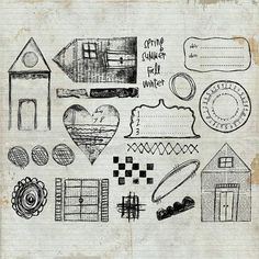 ROBEN-MARIE SMITH - Doodles & Daters Unmounted Rubber Stamp Sheet