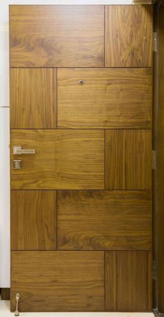 Carty Residence by K Square Architects, Interior Designer in chennai,Tamil Nadu, India Flush Door Design, Single Door Design, Wooden Front Door Design, Wooden Front Doors, Door Gate Design, Bedroom Door Design, Door Design Interior, Porte Design, Modern Wooden Doors