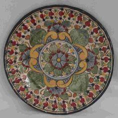 Classic Talavera Plate - Mexican Connexion for Talavera Pottery [ MexicanConnexionforTile.com ] #shop #Talavera #Mexican