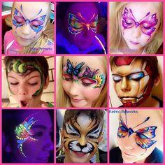 Artist : Kel Mcilwain www.kelmcartworks.com.au www.facebook.com/kelmcartworks1 Shoalhaven face painter .... I put together a small collage of some of my recent work .