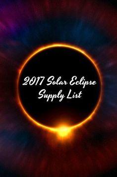 2017 Solar Eclipse Supply List