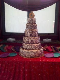 Henna wedding cake! Made for my aunts wedding....