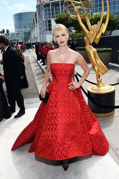 January Jones in Prabal Gurung at 2014 Emmy's. See all the red carpet arrivals…