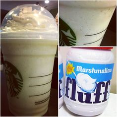 Just Added : *MARSHMALLOW FLUFF FRAPPUCCINO* !! It's just so hard to resist the melt in your mouth sweetness. And you won't have to with this Marshmallow Fluff Frappuccino!