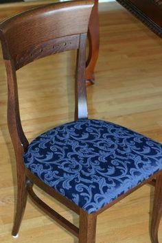 Rather than purchasing a new chair, check out this How to Reupholster a Chair Tutorial. DIY reupholstering is essentially giving a chair a new seat cover.