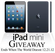 iPad Mini 16GB WiFi Giveaway. Ends 12.21.12 Open WorldWide  poshfoto.com