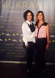 Cristina Plazas y Eva Isanta con camisas de Lesmoking de las colecciones de verano y otoño