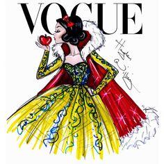 Vogue_SnowWhite.jpg (1498×1600) ❤ liked on Polyvore featuring disney princesses