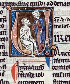 1220 Troyes, BM, ms. 0083, f 002v, Job et sa femme, livre de Job, Paris ? Source :http://www.culture.gouv.fr/public/mistral/enlumine_fr?ACTION=CHERCHER