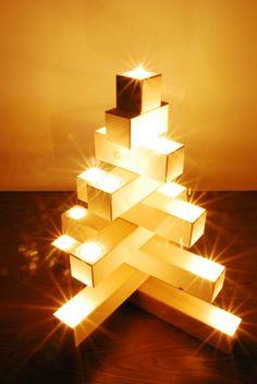 Modern christmas tree. Moderner Weihnachtsbaum. Erzgebirge. Germany. www.cultform.de.