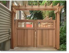 Dress up your entryways with dramatic wood and iron gates.