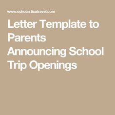 School Trip Parent Meeting Agenda Sample  School Trip Planning